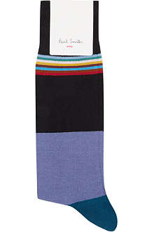 PAUL SMITH Top stripe cotton socks