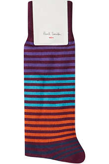 PAUL SMITH Solid striped socks