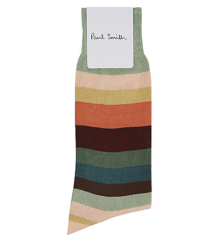 PAUL SMITH Artist stripe cotton socks (Multi