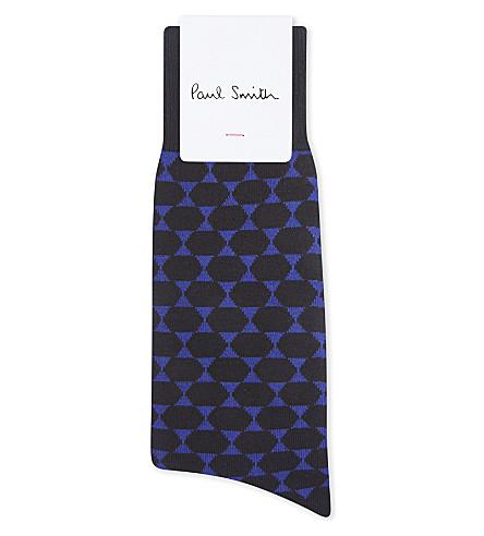 PAUL SMITH Hexagon pattern cotton socks (Black