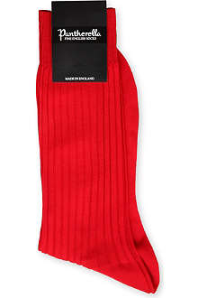 PANTHERELLA Ribbed cotton-blend socks