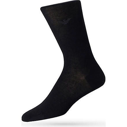 ARMANI Eagle socks (Black