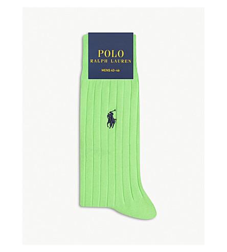 POLO RALPH LAUREN Pony Egyptian cotton socks (Green