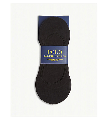 POLO RALPH LAUREN Cotton shoe liners 3-pack (Black