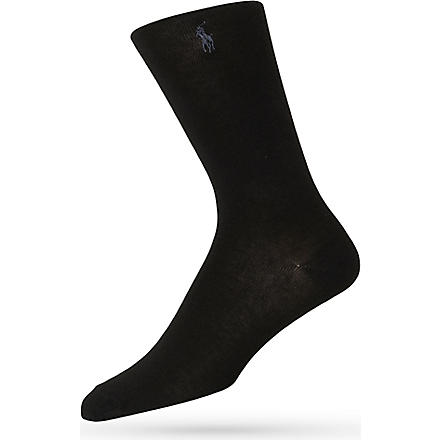 RALPH LAUREN Dress socks (Black