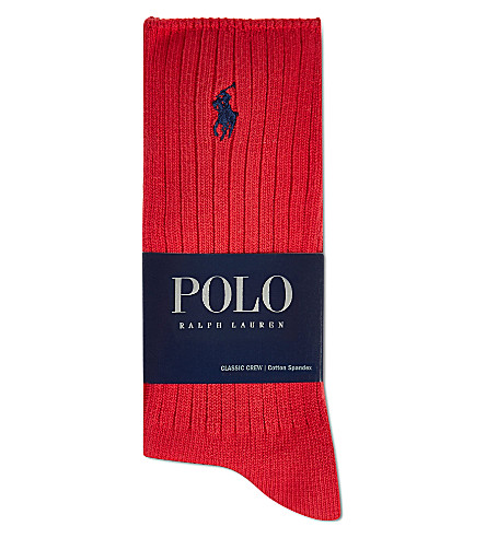 POLO RALPH LAUREN Classic crew socks (Red