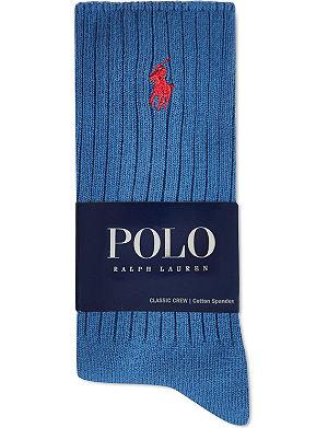 RALPH LAUREN Classic crew socks