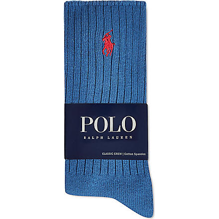RALPH LAUREN Classic crew socks (Royal