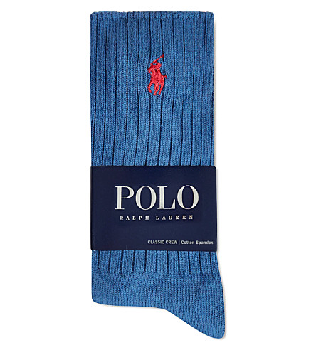 RALPH LAUREN Classic crew socks (Royal