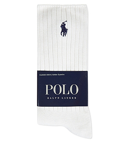 POLO RALPH LAUREN Classic crew socks (White
