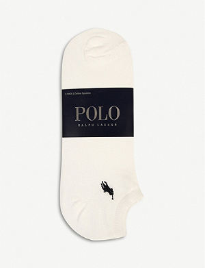 RALPH LAUREN Pack of three trainer socks