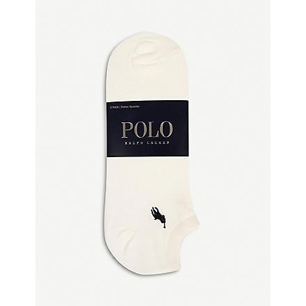 RALPH LAUREN Pack of three trainer socks (White