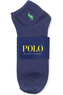 RALPH LAUREN Flat–knit Quarter socks