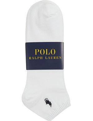 RALPH LAUREN Flat–knit Quarter socks