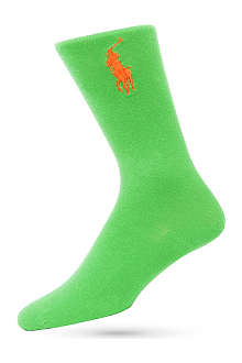 RALPH LAUREN Flat-knit big pony socks