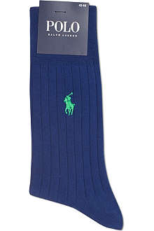 RALPH LAUREN Egyptian cotton ribbed socks