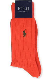 RALPH LAUREN Ribbed socks