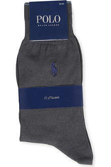 RALPH LAUREN Mercerised flat knit sock