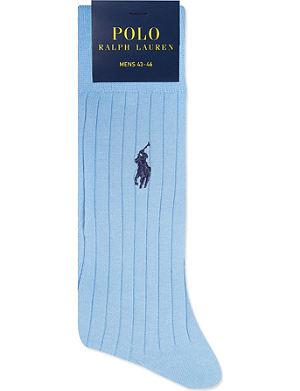 RALPH LAUREN Ribbed Egyptian cotton socks