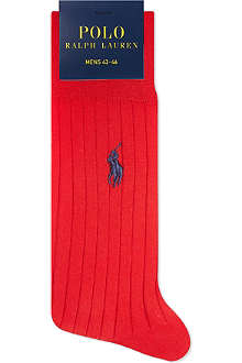 RALPH LAUREN Ribbed Egyptian cotton socks