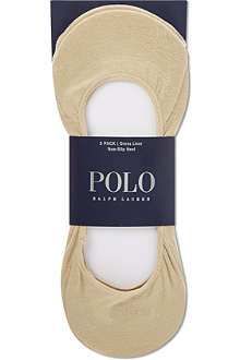 RALPH LAUREN Pack of three no-show liner socks
