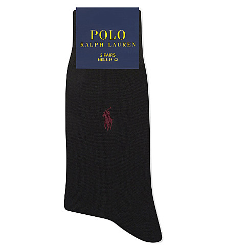 POLO RALPH LAUREN Fil d'Ecosse cotton socks (Black