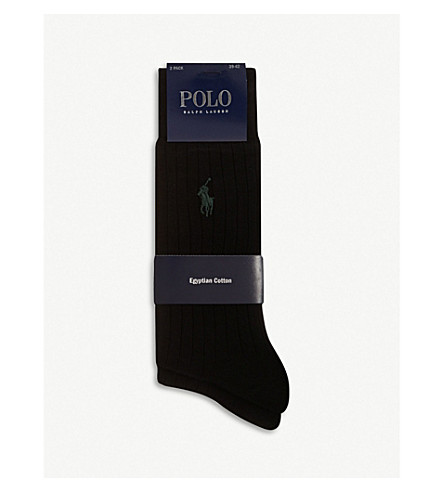 POLO RALPH LAUREN Ribbed socks (Black