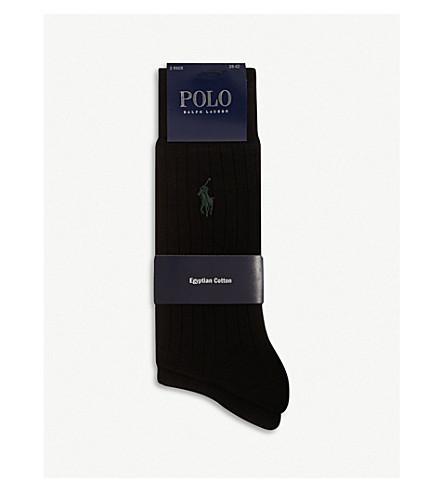 POLO RALPH LAUREN 肋袜 (黑色