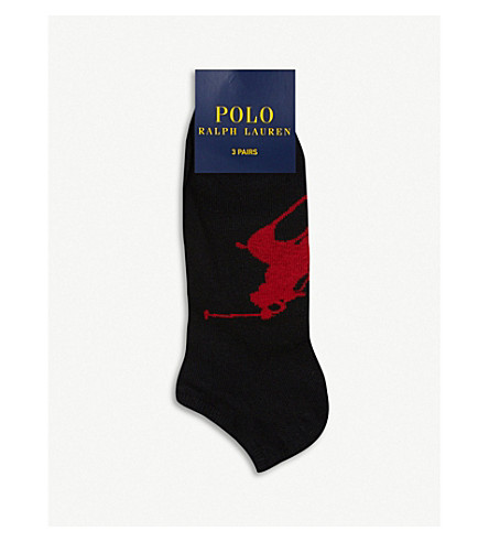 POLO RALPH LAUREN Pack of three Big Pony sports socks (Black