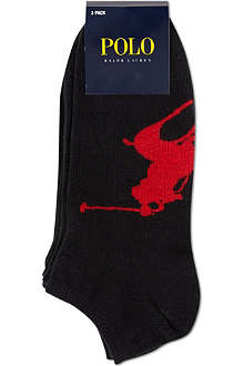 RALPH LAUREN Pack of three ankle socks
