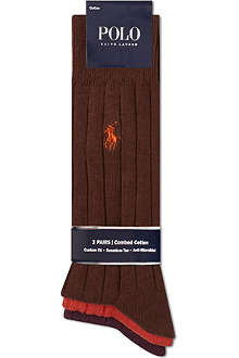 RALPH LAUREN Pack of three ribbed socks