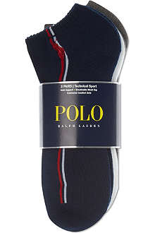 RALPH LAUREN Set of three sports socks