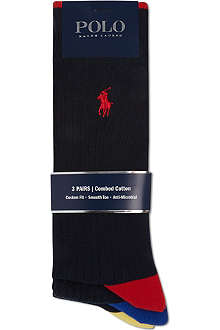RALPH LAUREN Ribbed 3 pack socks