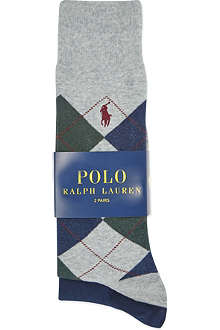 RALPH LAUREN Set of two Argyle socks