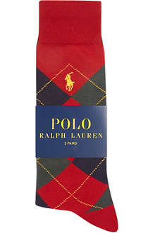 RALPH LAUREN Pony socks 2-pack