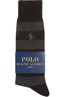RALPH LAUREN Set of three striped socks