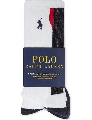 RALPH LAUREN Tech sports 3pack sock