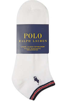 RALPH LAUREN Classic cotton sports socks 3-pack