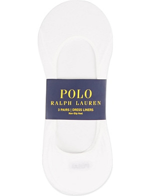 RALPH LAUREN No-show dress liners triple-pack