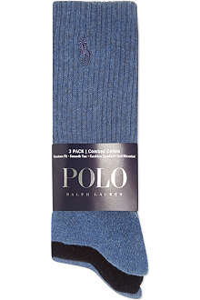 RALPH LAUREN Set of three combed cotton socks