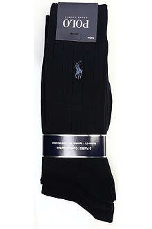 RALPH LAUREN Three pack of cotton socks