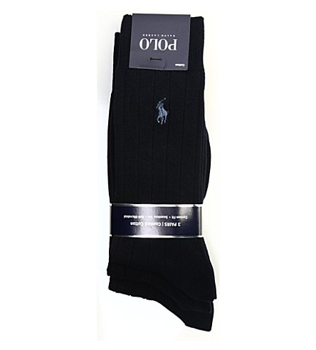 POLO RALPH LAUREN Three pack of cotton socks (Navy