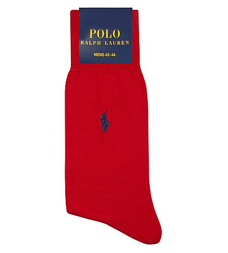 POLO RALPH LAUREN Fil d'Ecosse cotton socks (Crimson