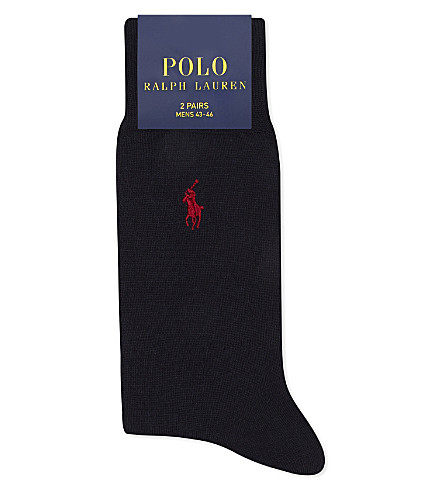 POLO RALPH LAUREN Logo merino wool socks (Navy