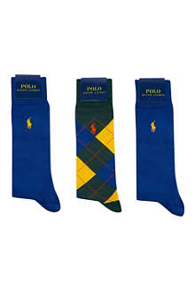RALPH LAUREN Pony socks 3 pack