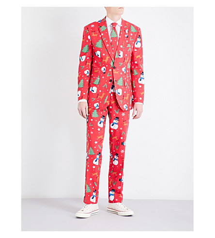 OPPOSUITS Christmaster regular-fit woven suit (Multicolour