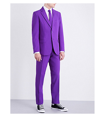 OPPOSUITS Purple Prince regular-fit woven suit (Multicolour