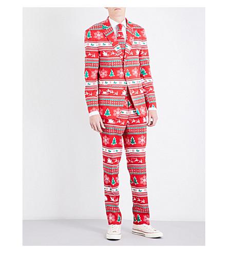 OPPOSUITS Winter Wonderland regular-fit woven suit (Multicolour