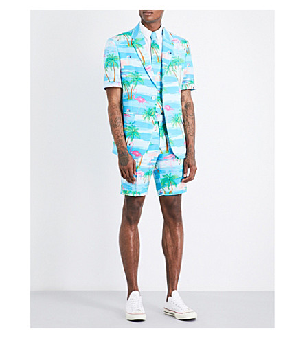 OPPOSUITS Flaminguy woven suit (Multicolour