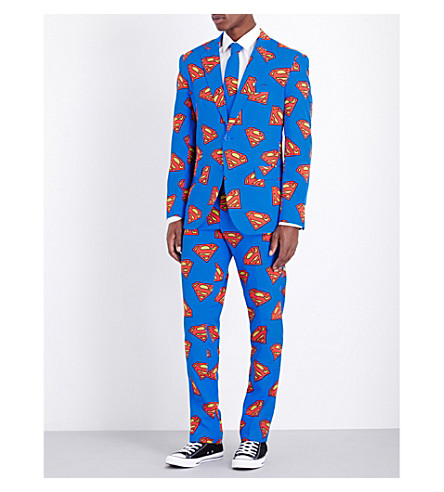 OPPOSUITS Superman regular-fit woven suit (Multi